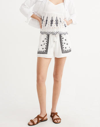 ANF Embroidered Shorts