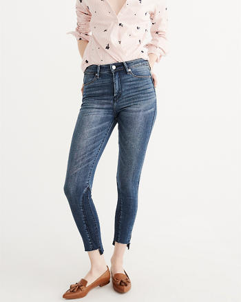 ANF High Rise Panel Super Skinny Jeans