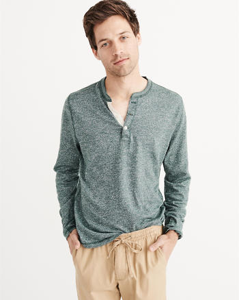 ANF Long Sleeve Knit Henley
