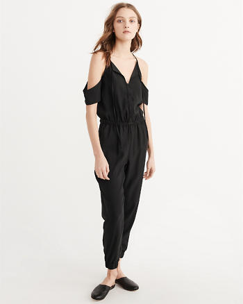 ANF Cold-Shoulder Jumpsuit