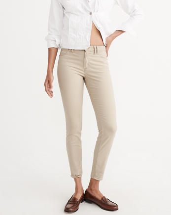 ANF Sateen Ankle Pants