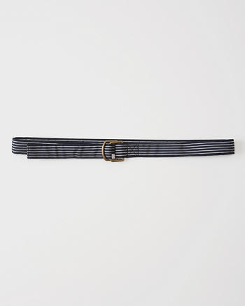 ANF Striped Ribbon Belt