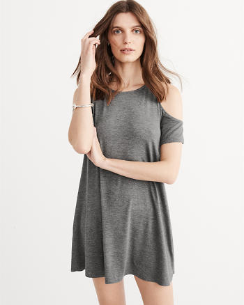 ANF Cold Shoulder Knit Dress
