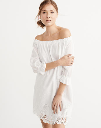 ANF Off-The Shoulder Lace Dress