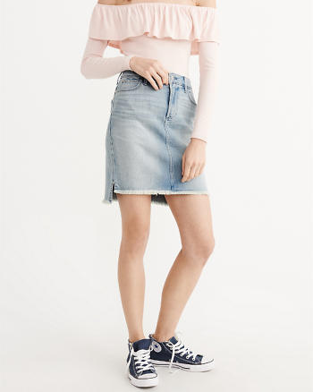 ANF Stretch Denim Pencil Skirt