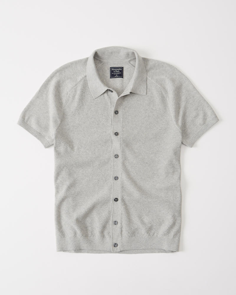 Mens Button-Up Sweater Polo   Mens Clearance   Abercrombie.com