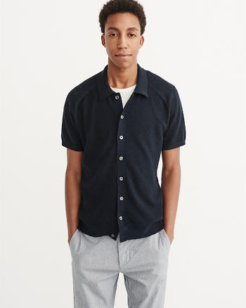 ANF Button-Up Sweater Polo