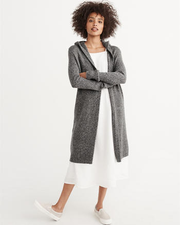 ANF Hooded Duster Cardigan