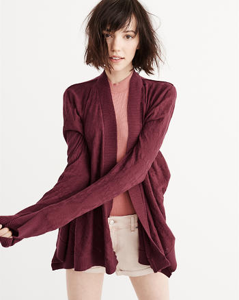 ANF Textured Knit Cardigan