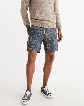 ANF Patterned Pull-On Shorts