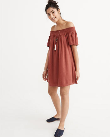 ANF Off-The-Shoulder Shift Dress
