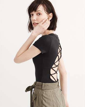 ANF Lace-Up Back Bodysuit
