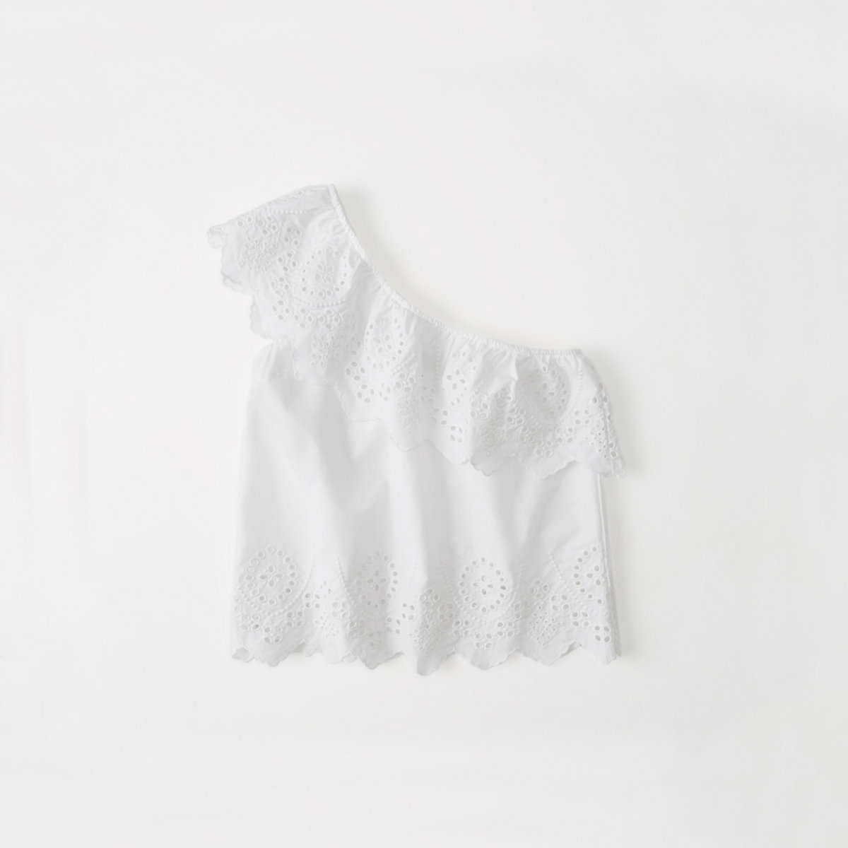 One-Shoulder Ruffle Top