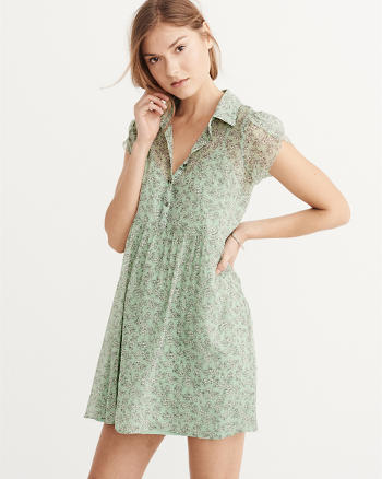 ANF Tulip Sleeve Shirtdress