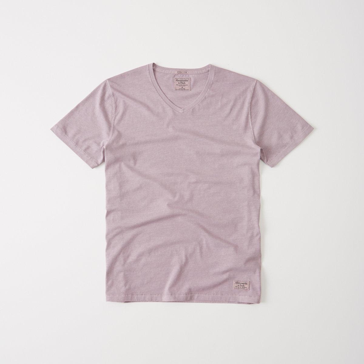 Garment Dye V-Neck Tee