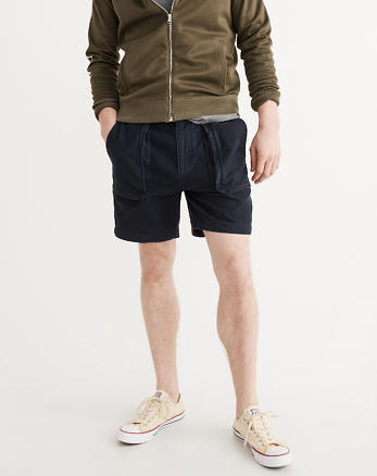 ANF Utility Flat-Front Shorts