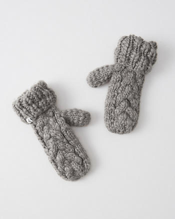 ANF Patterned Knit Gloves