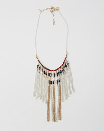 ANF Statement Fringe Necklace