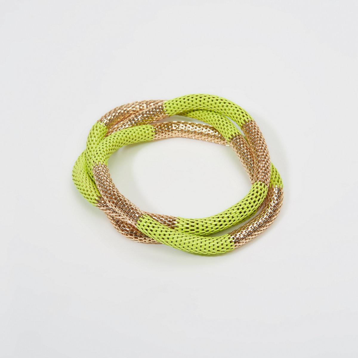 Striped Metal Stretch Bracelet
