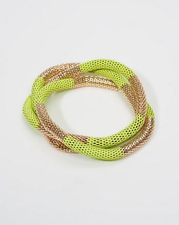 ANF Striped Metal Stretch Bracelet