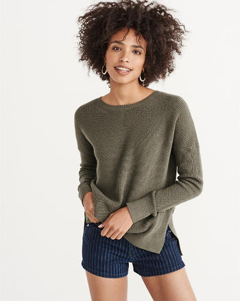 ANF Slouchy Crew Sweater