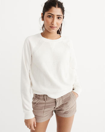 ANF Mixed Fabric Sweater