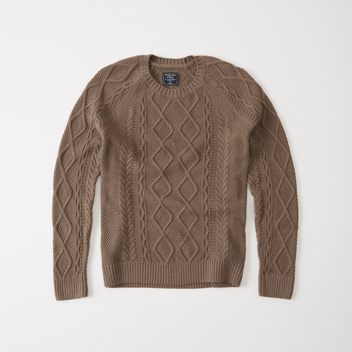 Garment Dye Cable Crew Sweater