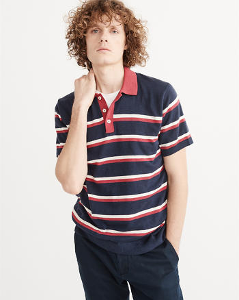 ANF Stitched Sweater Polo