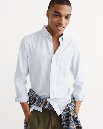 ANF Heathered Oxford Shirt