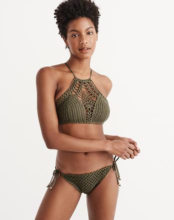 ANF Crochet High Neck Halter Top
