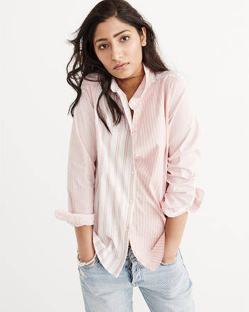 ANF Mixed Stripe Poplin Shirt