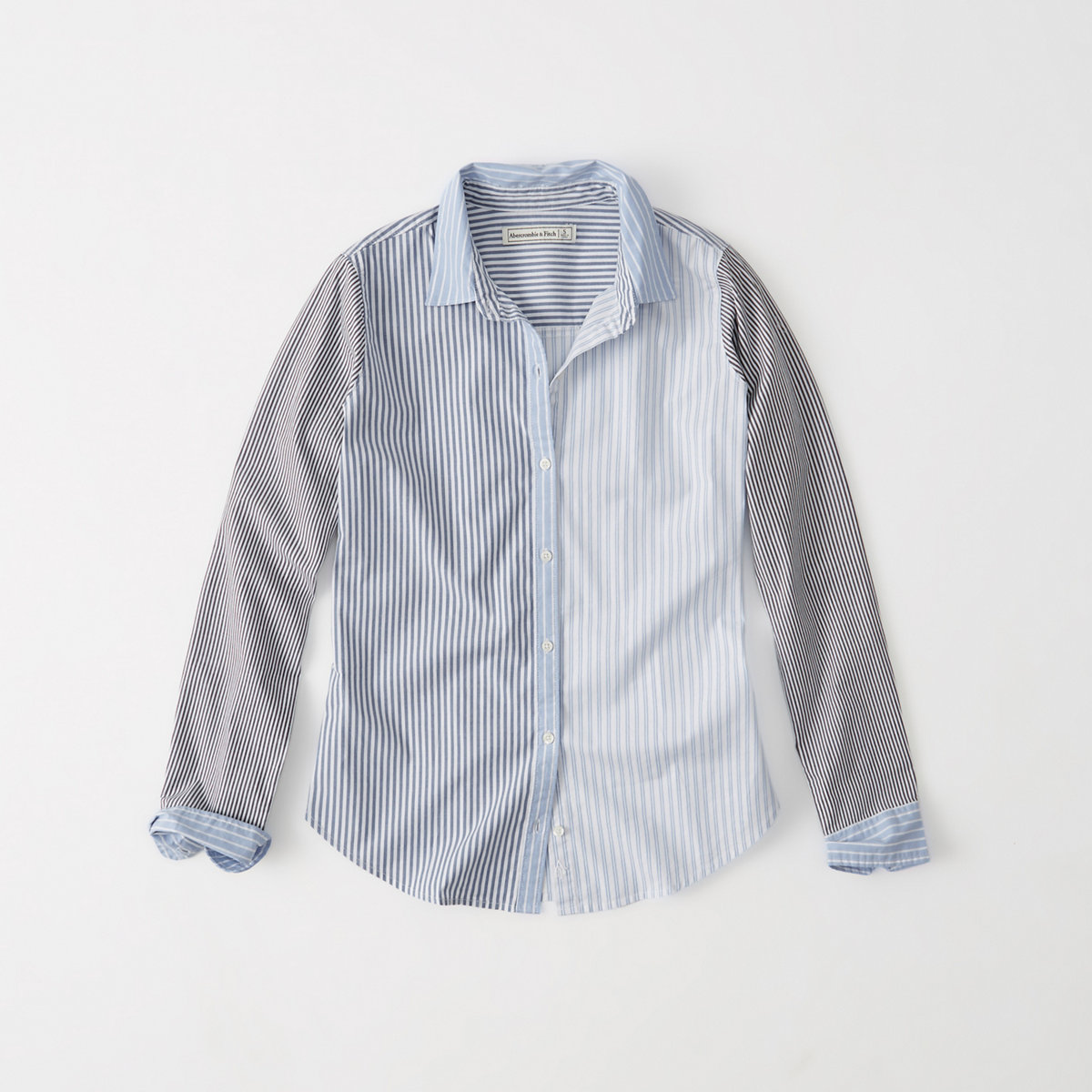 Mixed Stripe Poplin Shirt