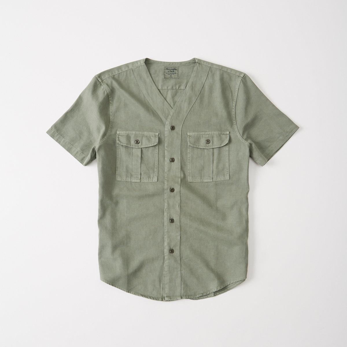 Linen Baseball Shirt