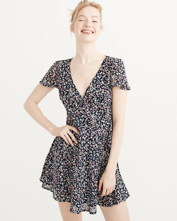 ANF Printed Wrap Dress