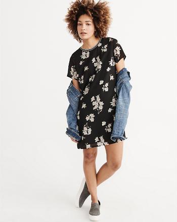 ANF Knit Woven T-Shirt Dress
