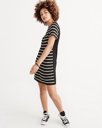 ANF Knit Woven T-Shirt Dress