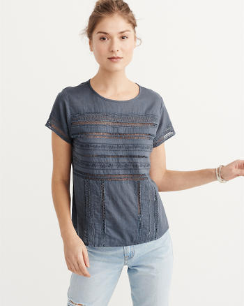 ANF Lace Trim Tee