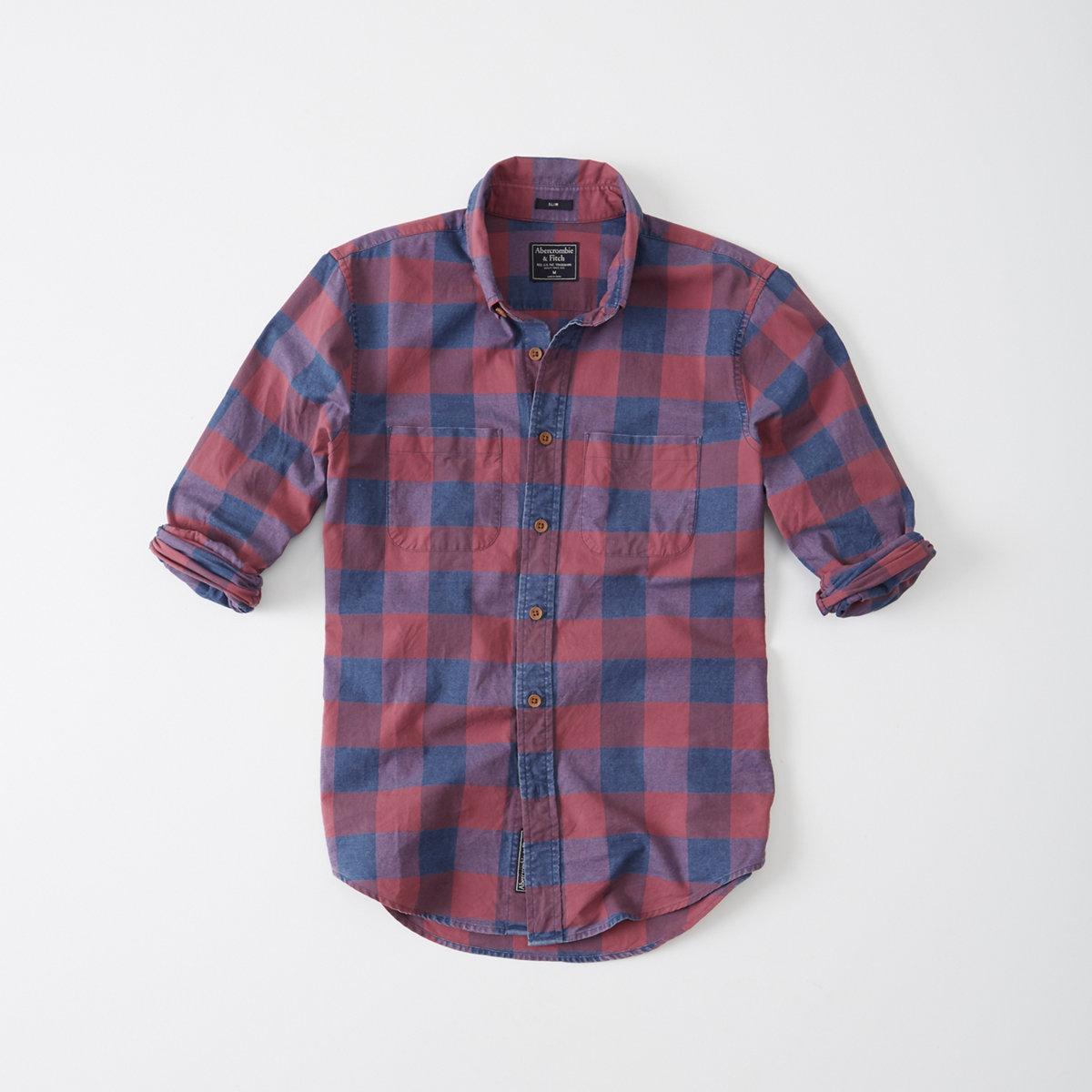Indigo Plaid Oxford Shirt