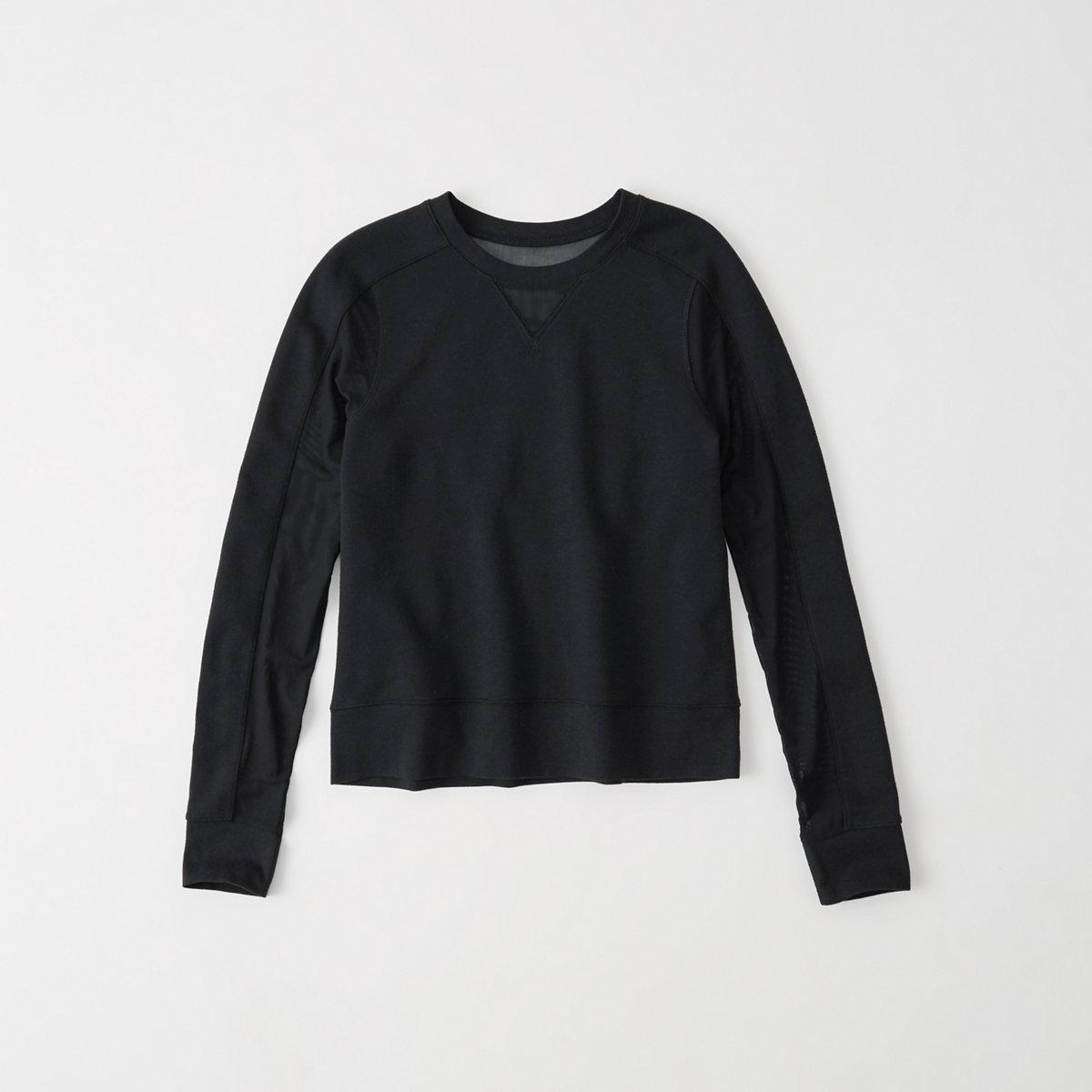 Active Mesh Crew Sweatshirt