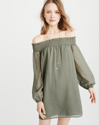 ANF Off-The-Shoulder Dress