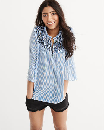ANF Embroidered Blouse