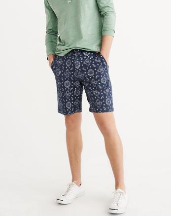 ANF Printed Flat-Front Shorts