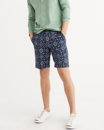 ANF Printed Plainfront Shorts