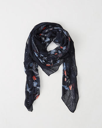 ANF Printed Square Scarf