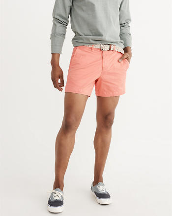 ANF Flat-Front Stretch Shorts