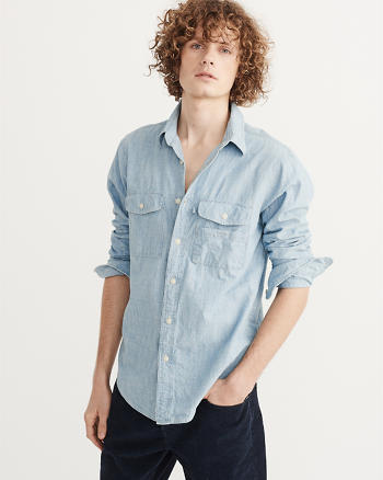 ANF Chambray Fisherman Shirt