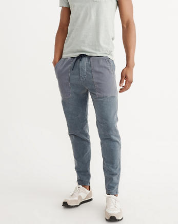 ANF Fleece Tapered Pants