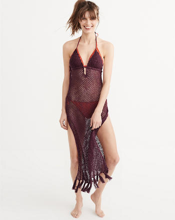 ANF Crochet Maxi Cover-Up