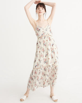 ANF Ladder Trim Maxi Dress