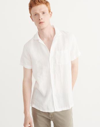 ANF Garment Dye Linen Shirt